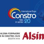 Alsina India asiste a la Feria Constro 2020 para exponer su tecnología en encofrados y cimbras
