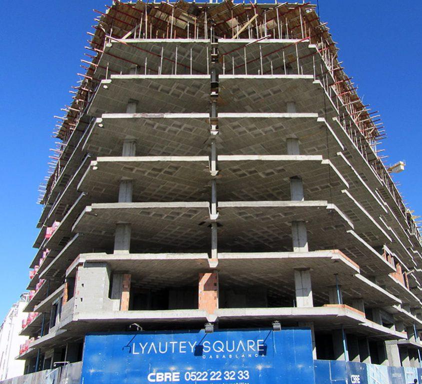 Alsina participe à la construction du complexe résidentiel Lyautey Square à Casablanca (Maroc)